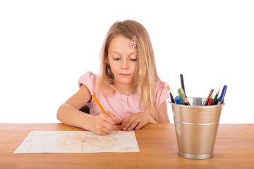 Child draw a picture