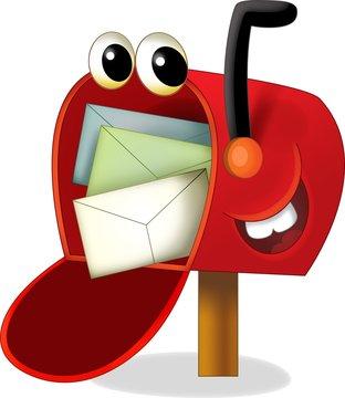 The cartoon mailbox - illustration for the children