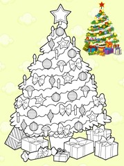Colorin page - christmas tree