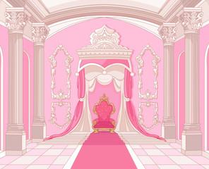 Canvas Prints Fairytale World Throne room of magic castle