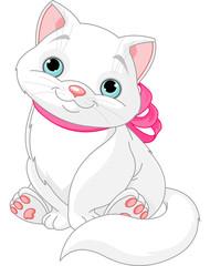 Canvas Prints Fairytale World Cute fat cat