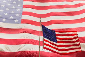American flag on the mast