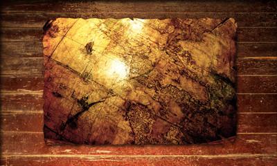 Holzplakat - Welt