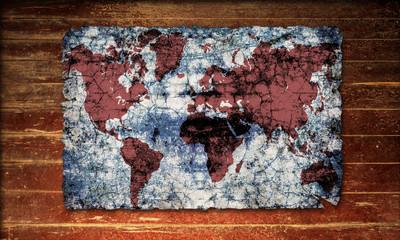 Holzplakat - Erde