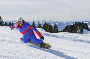 Spass auf dem Snowboard