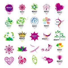collection of vector logos for beauty salons
