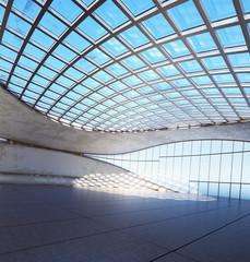 Futuristische Halle mit Glasdach - future style hangar