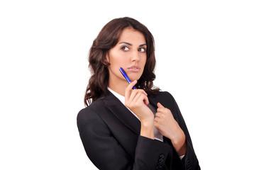 Wall Mural - портрет девушки с ручкой в руке