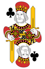 King of clubs without card. Original design