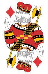 King of Diamonds without card. Original design