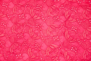 Retro pink textile for background