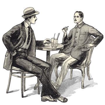 2 hommes au café