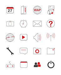 Icons Handy App Phone Smartphone Tablet Web 7 rot