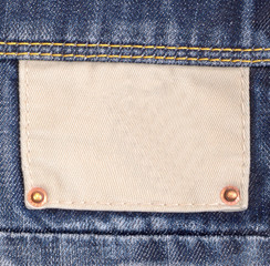 The label on a jeans