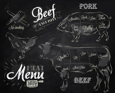 Chalk Illustration of a vintage graphic element