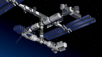 Satellite space station