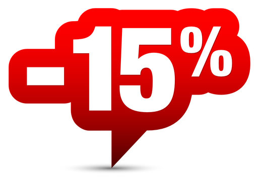 """Icon Sale """"-15%"""" Red"""