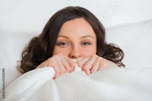 photo of girls hiding face № 13602
