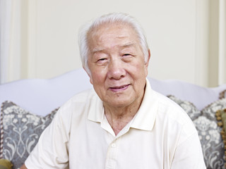 portrait of a senior asian man