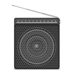 Small radio on white background