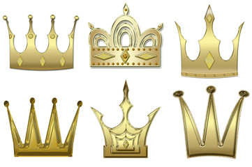 set of gold crowns from gold