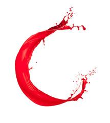 Red Liquid alphabet letter C