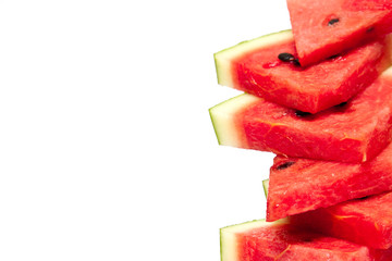 fresh watermelon  on white background.