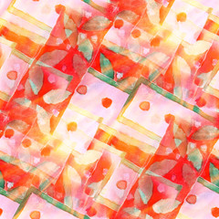 design watercolor seamless background a red, green texture abstr