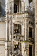 Détail escalier du Château de Chambord