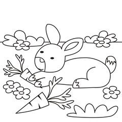 rabbit - coloring