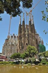 Famous Barcelona Sagrada Familia Spain