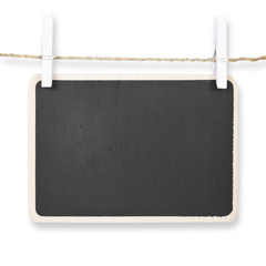 blackboard hang on wood rope with pin, included clipping path