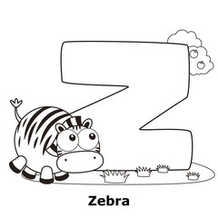 Coloring Alphabet for Kids, Z