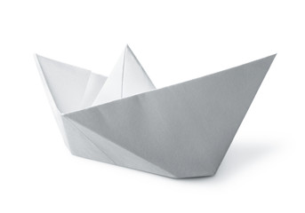 white paper boat Wall mural