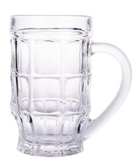 Empty beer glass isolated