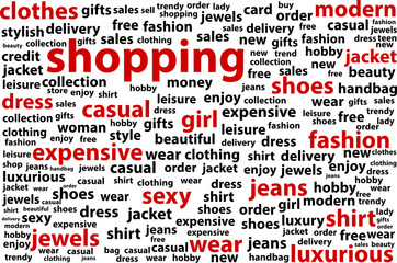 Shopping Word Cloud