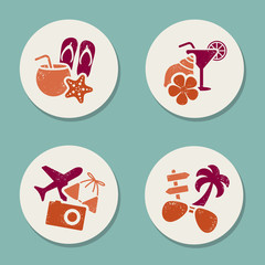 summer vacations stickers