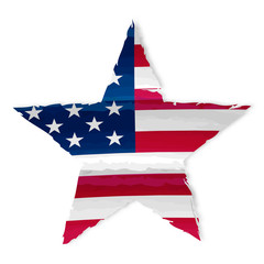 star in USA flag drawing