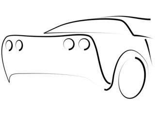 Fototapete - Tribal Sportwagen Auto Dynamik