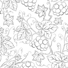Grape Seamless Pattern.