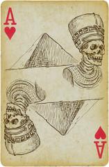 Devil spirit of Pharaoh in front of Pyramid