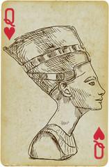Portrait of Nefertiti - Ancient Egyptian Queen