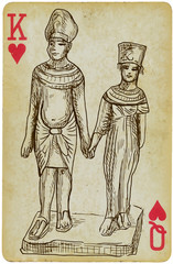 Pharaoh with his wife - the rulers of Egypt