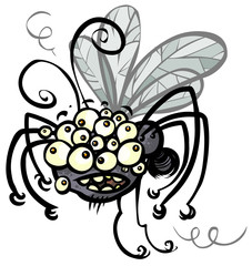 Cartoon crazy Insect.