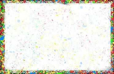 Colorful inky splash frame border