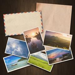 vintage paper and postcard