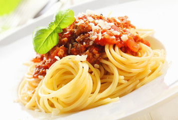 Spaghetti with Bolognese sauce Wall mural