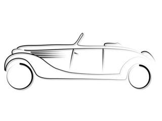 Wall Mural - tribal Oldtimer Cabrio