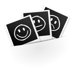Polaroids mit Smileys