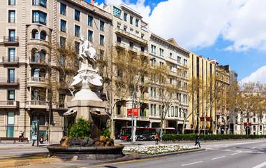 View of Barcelona. Gran Via de les Corts Catalanes